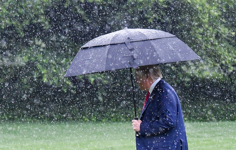 Trumping in the rain Jonathan Newton the Washington Post