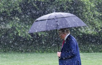 Trumping in the rain Jonathan Newton the Washington Post